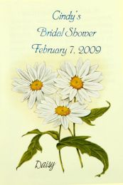 Daisy Bridal Shower Seed Favor